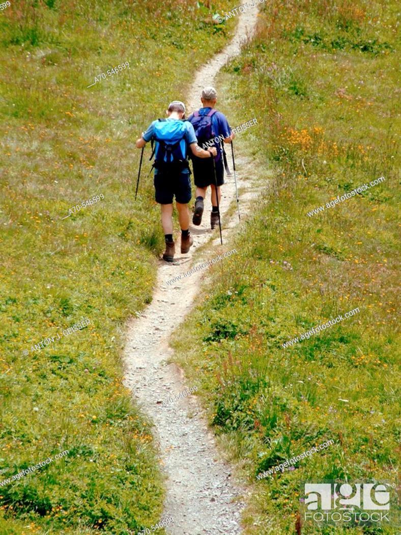 Stock Photo: Hiking,  Bernese Oberland, Switzerland.