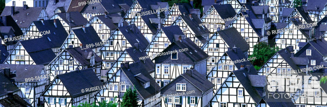 Stock Photo: Freudenberg, Bergishesland, Germany.