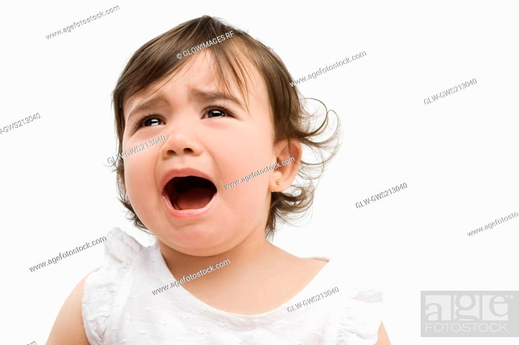 Stock Photo: Close-up of a girl crying.