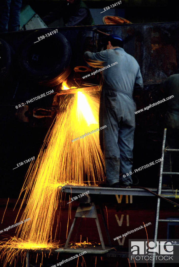 Stock Photo: Iron and steel industry.
