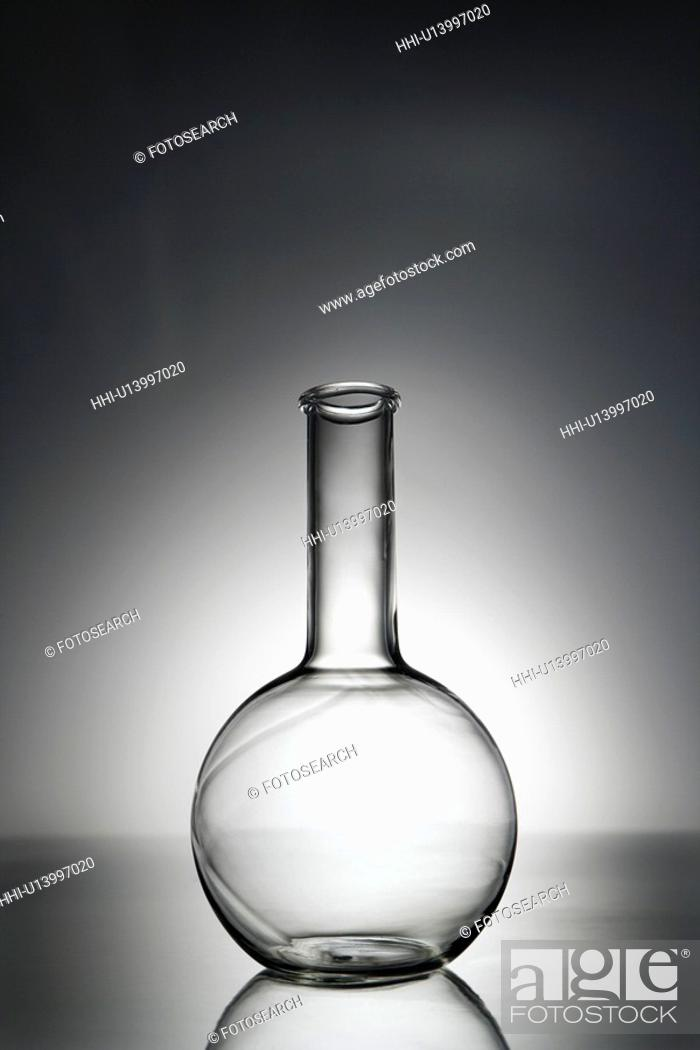 Stock Photo: Glass science container.