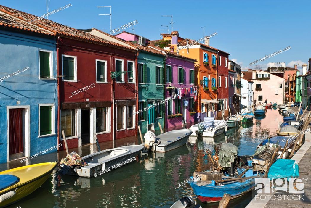Stock Photo: Burano island, Veneto, Italy.