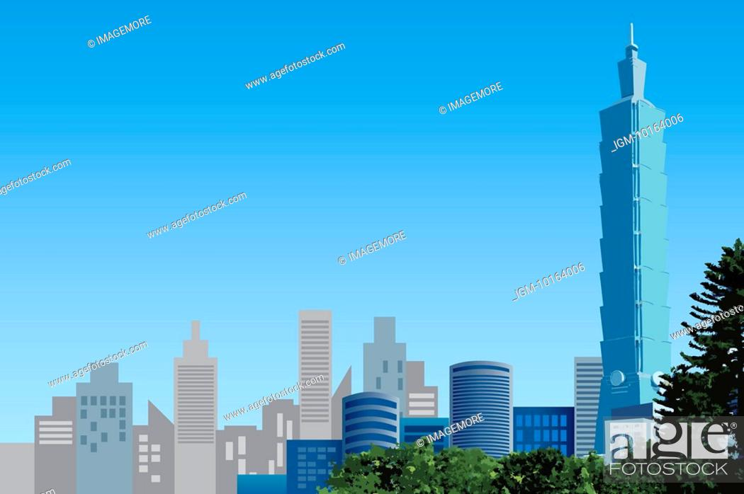 Stock Photo: China, Taiwan, Taipei, Taipei 101, Capital Cities.