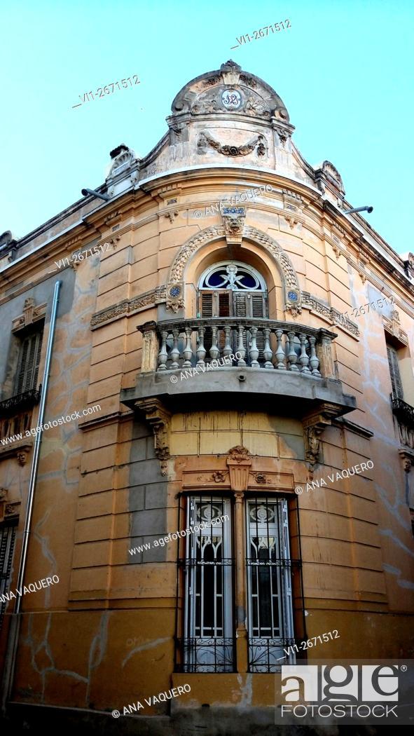 Stock Photo: 19th century building, Miajadas, Caceres Extremadura, Spain.