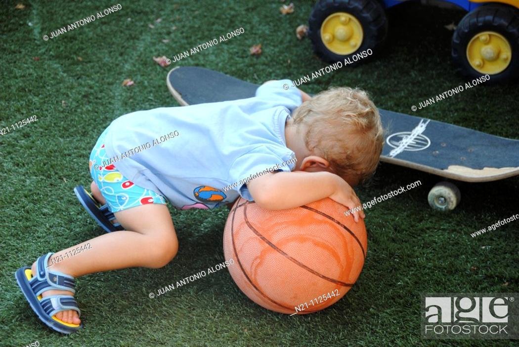 Stock Photo: Child playing.