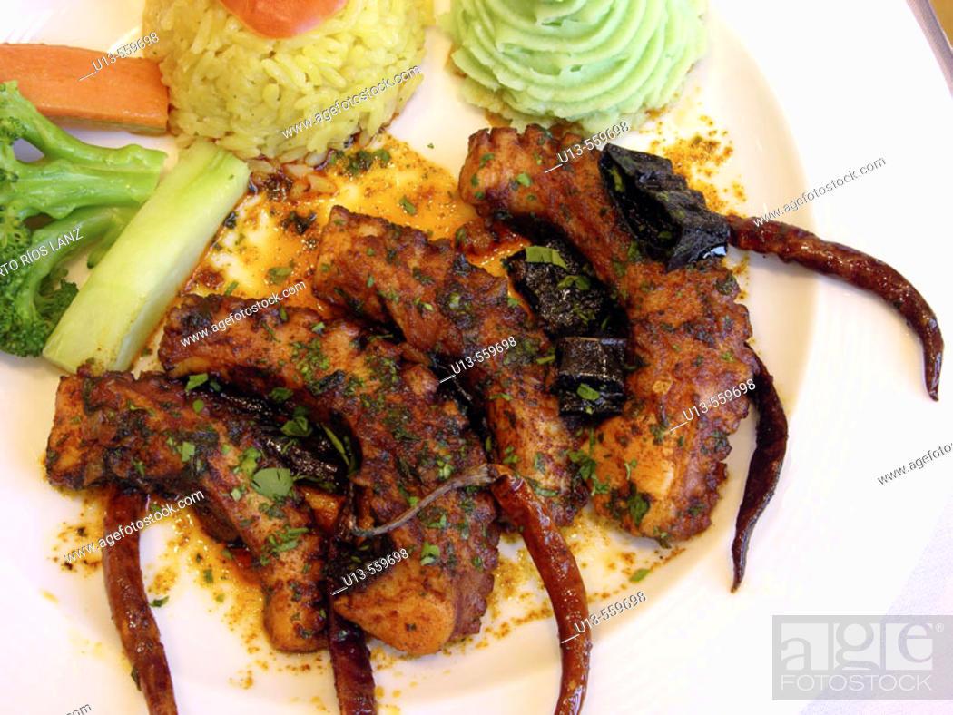 Stock Photo: Octopus. Restaurante La Pigua. Campeche. Mexico.