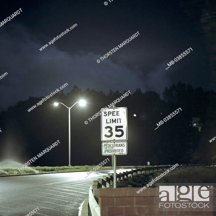USA, California, Treasure Iceland, parking place, lantern