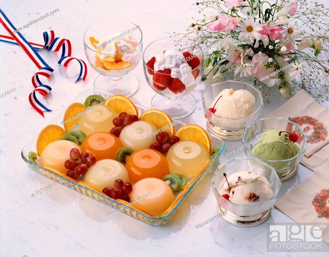 Stock Photo: Party Desserts.