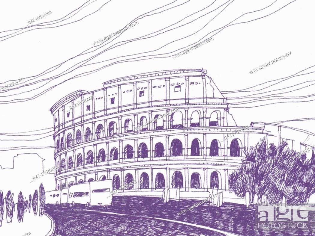Stock Photo: Colosseum.