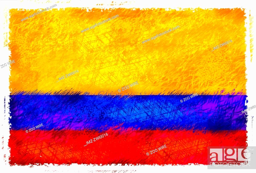 Stock Photo: Flag of Colombia.