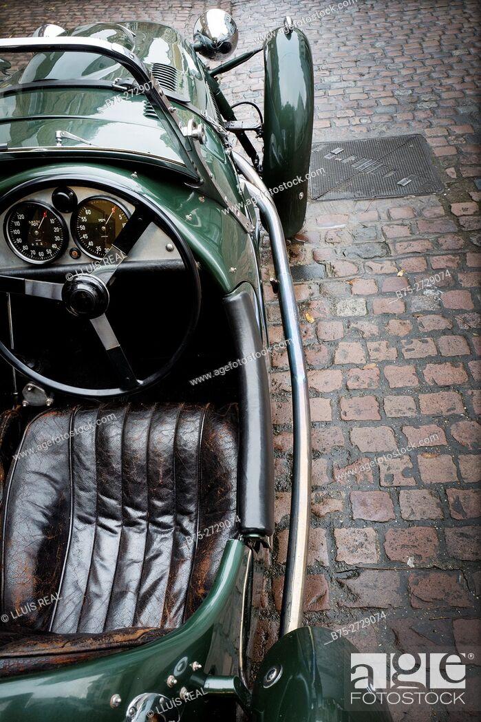 Stock Photo: Frazer Nash vintage sports car. London, England.