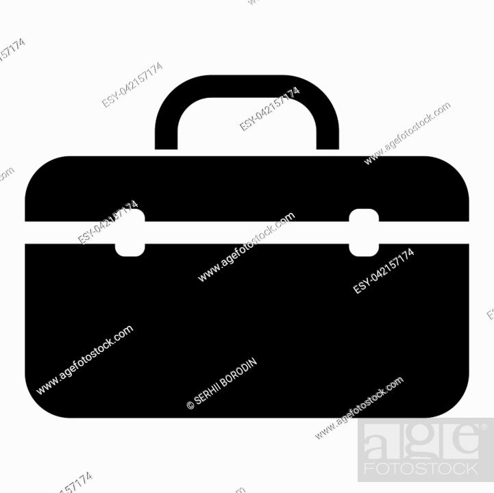Stock Vector: Tool box professional icon black color vector illustration flat style simple image.