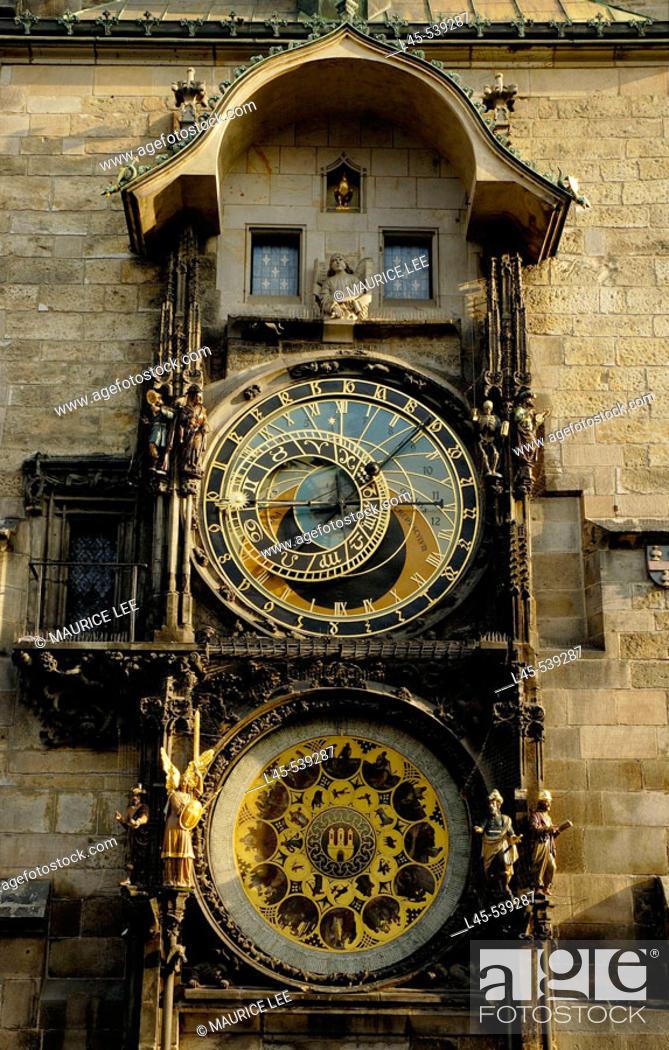 Stock Photo: The Astronomical Clock in Prague. Czech Republic. 2006.
