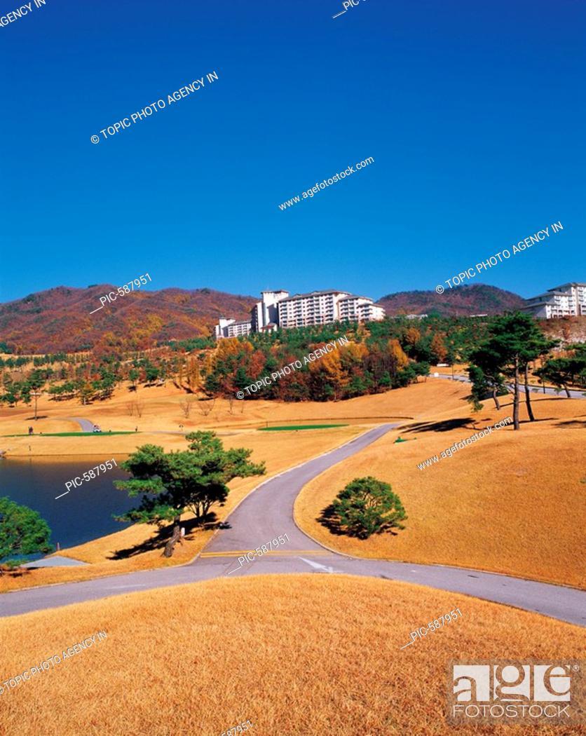 Stock Photo: Golf Course,Gangwon,Korea.
