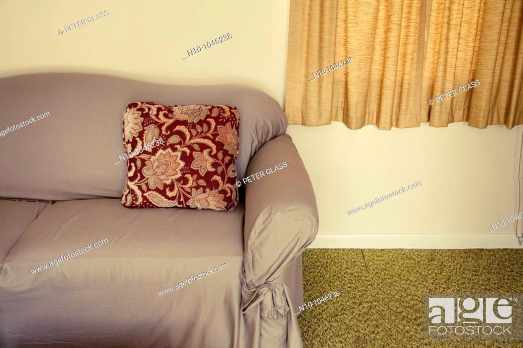 Stock Photo: Sofa in a living room.