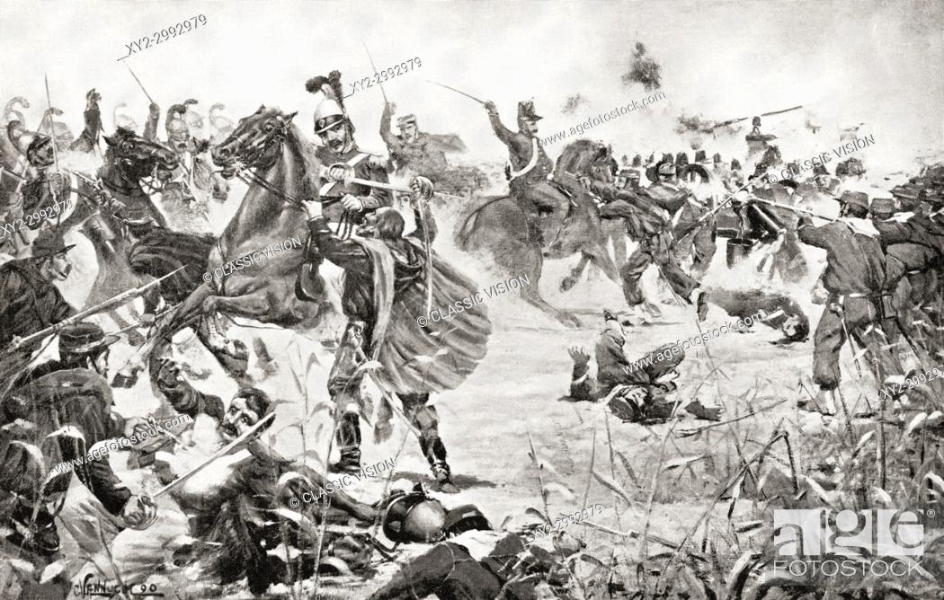 Stock Photo: The Battle of Milazzo, 17-24 July 1860, between Giuseppe Garibaldi's volunteers and the troops of the Kingdom of Two Sicilies at Milazzo, Sicily.