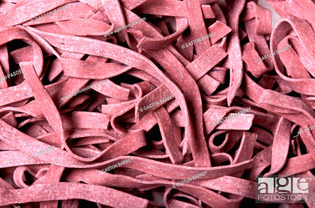 Stock Photo: Pasta - Savoy Taillerins aux Myrtilles.