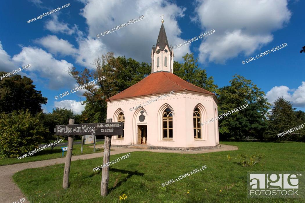 Stock Photo: Church at Dannenwalde, Gransee, Oberhavel district, Brandenburg, Germany / Patronatskirche in Dannenwalde, Gransee, Landkreis Oberhavel, Brandenburg.