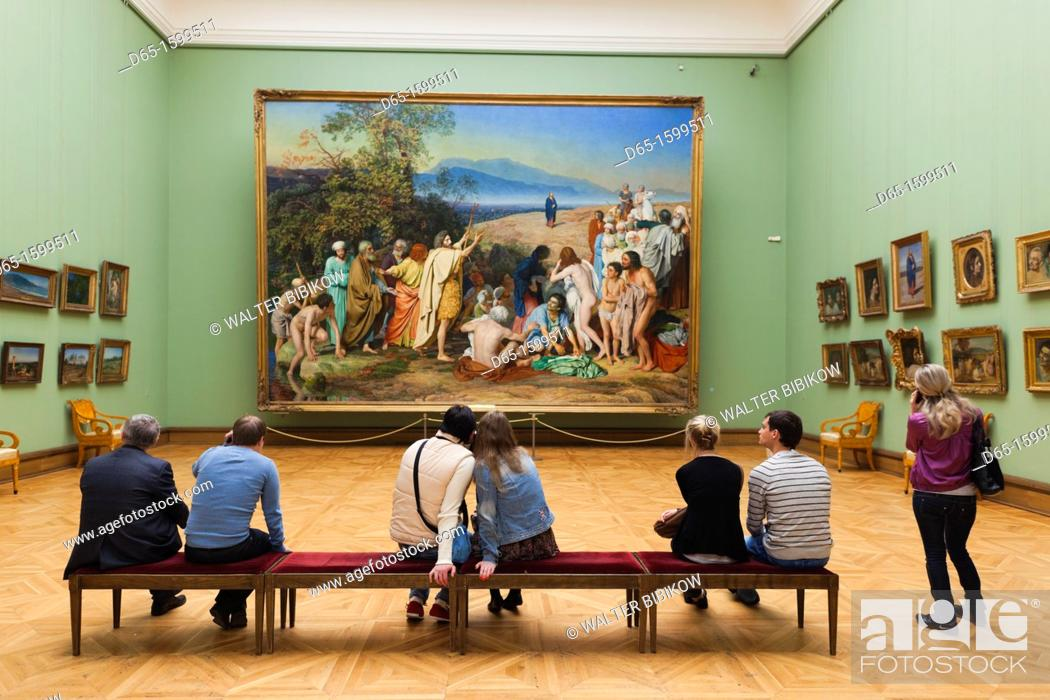 Stock Photo: Russia, Moscow Oblast, Moscow, Zamoskvorechiye-area, Tretyakov Art Gallery, interior gallery, NR.