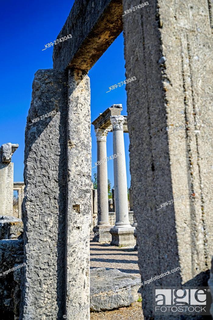 Stock Photo: Agora of Perge, Old capital of Pamphylia Secunda. Ancient Greece. Asia Minor. Turkey.