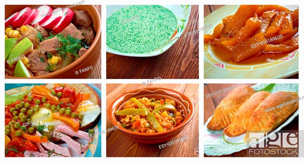 Stock Photo: Food set . southern food.Latin American cuisine.