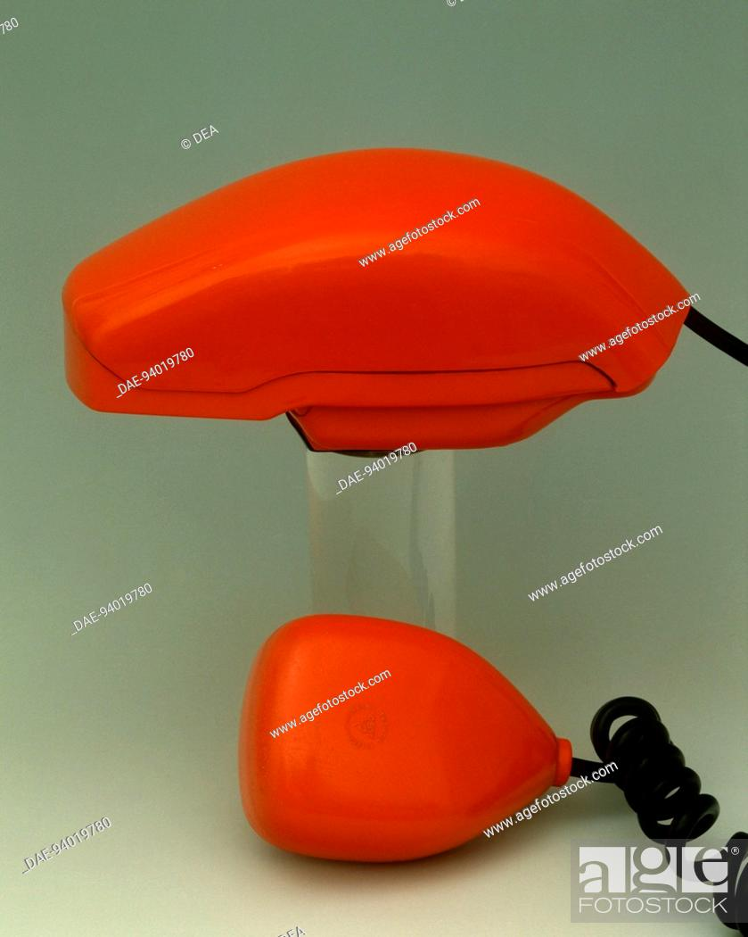 Stock Photo: Italy, 20th century - Sit-Siemens Grillo telephone, 1965, designed by Richard Sapper and Marco Zanuso.  Private Collection.