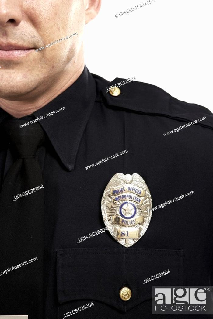 Stock Photo: Police officer's badge.