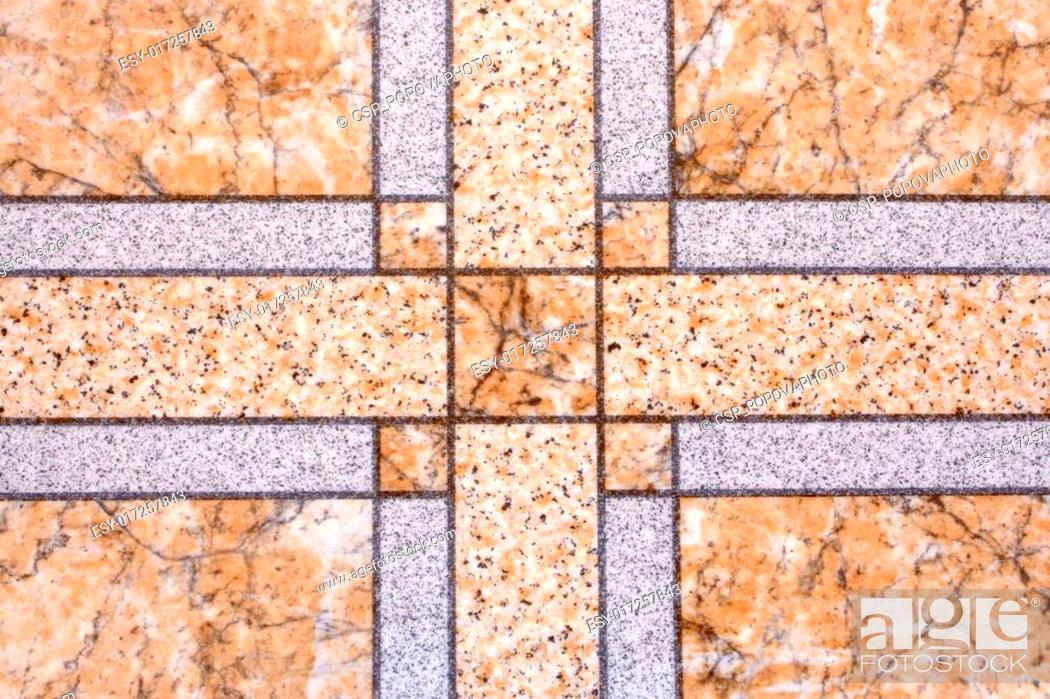 Stock Photo: Detailed image of a linoleum.