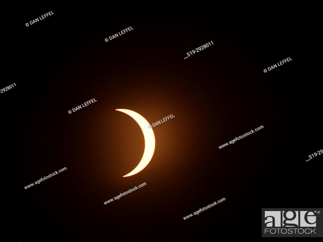 Stock Photo: Great American Eclipse Oregon Aug 2017.