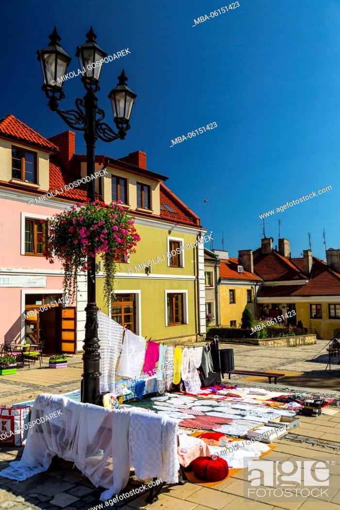 Stock Photo: Poland, Swietokrzyskie, Sandomierz, Main Square.