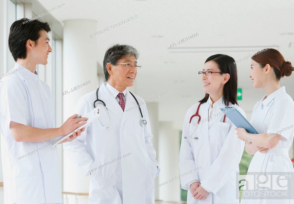 Stock Photo: Japanese medical team.