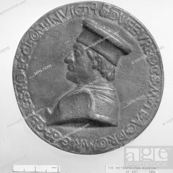 Imagen: Federigo da Montefeltro. Artist: Medalist: Savelli Sperandio (Italian, Mantua 1425?-?1504 Venice); Date: ca. 1474-82; Culture: Italian; Medium: Bronze;.