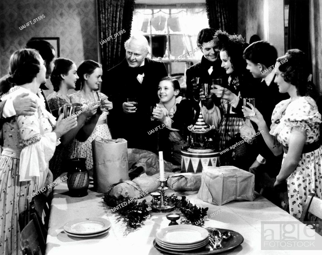 A Christmas Carol, USA 1938, Regie: Edwin L. Marin, Darsteller ...