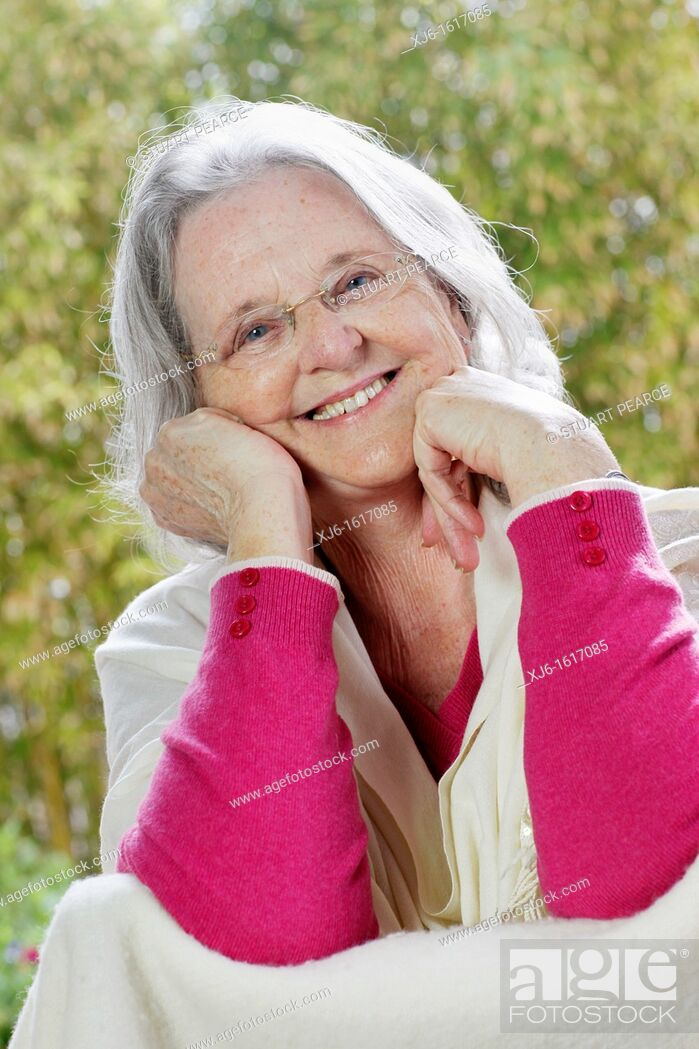Stock Photo: Senior woman.