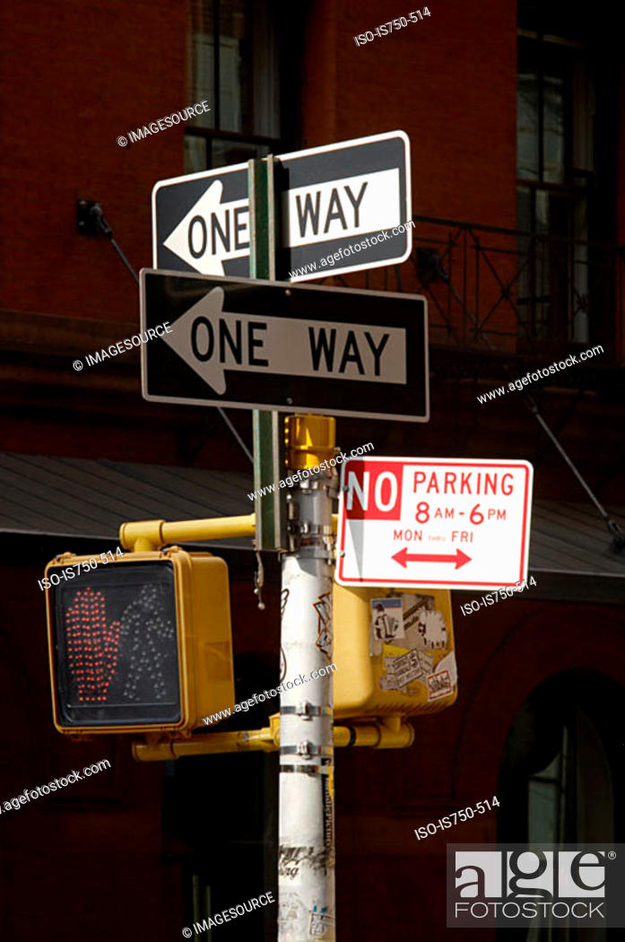 Stock Photo: New york street signs.