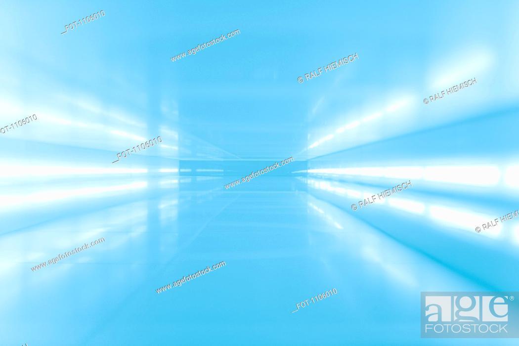 Stock Photo: An abstract corridor in blue tones.