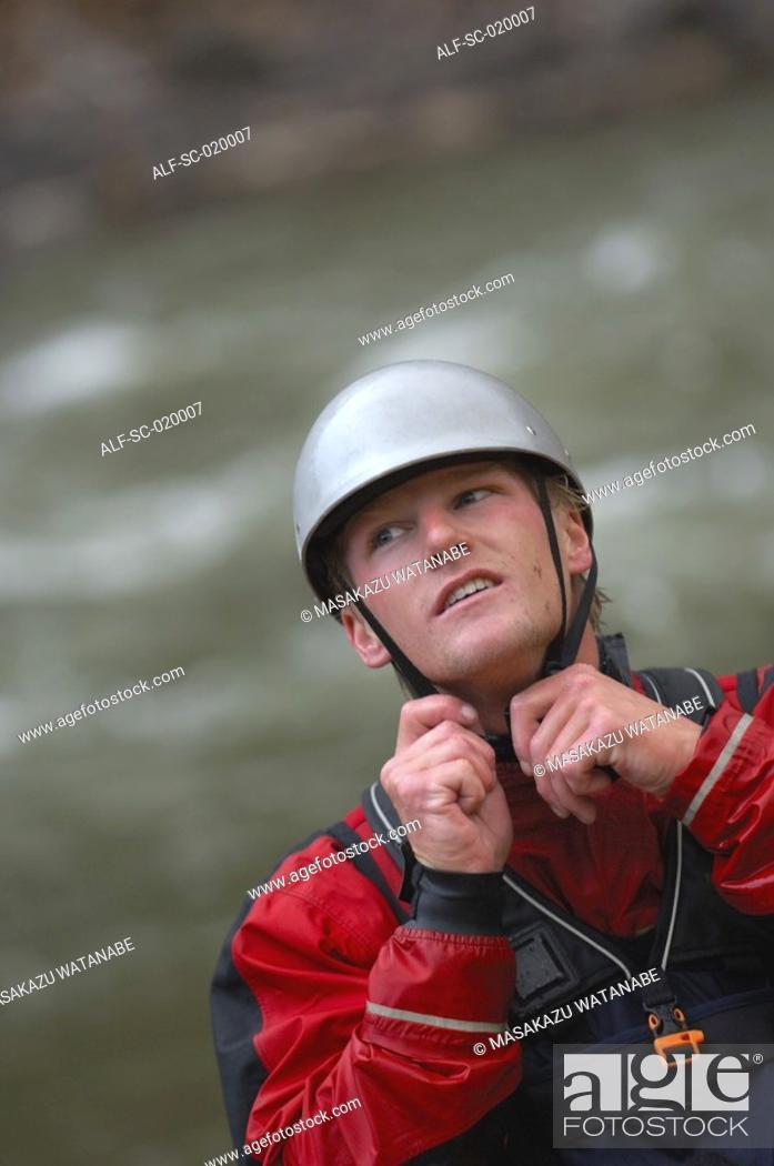 Stock Photo: Kayaker.