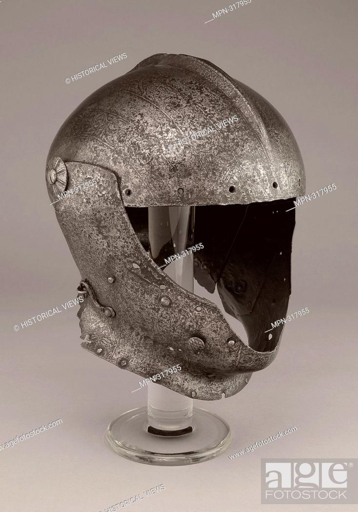 Stock Photo: Domenico dei Barini, called Negroli. Close Helmet - About 1510/15 - Domenico dei Barini, called Negroli Italian, Milan, 1492c. 1516. Steel.
