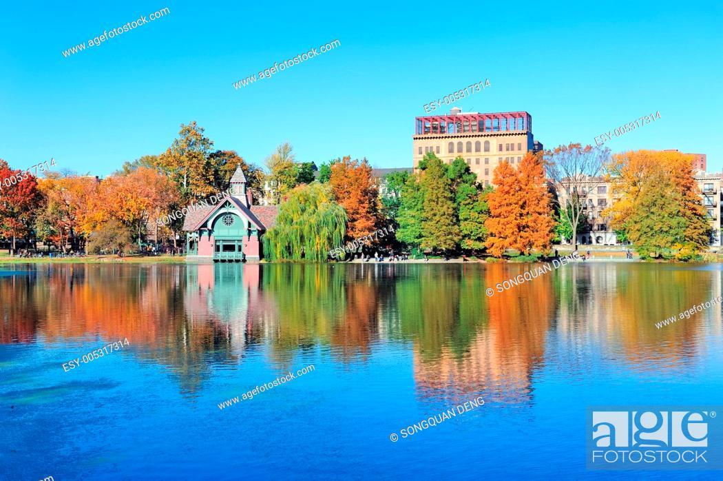 Stock Photo: New York City Central Park Autumn.