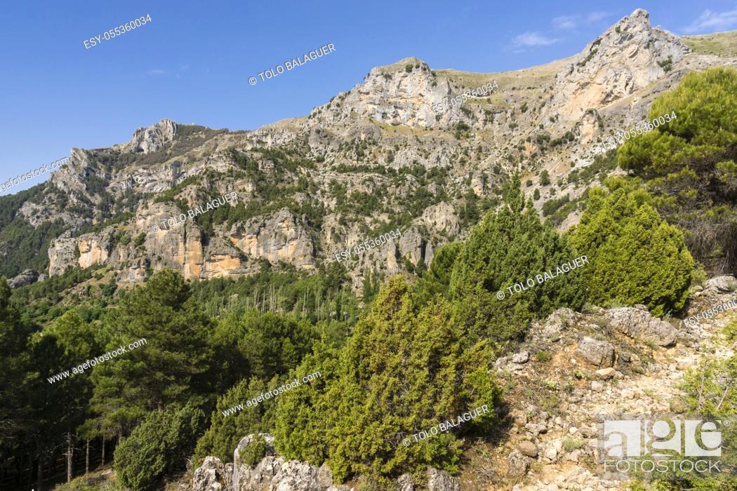 Stock Photo: Loma del Calar de Cobo y Puntal de Misa, 1796 metros, Parque Natural de las Sierras de Cazorla, Segura y Las Villas , provincia de Jaén, Spain.