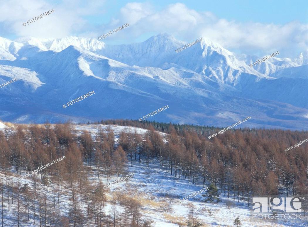 Stock Photo: Mt. Yatsugatake And A Blue Sky.