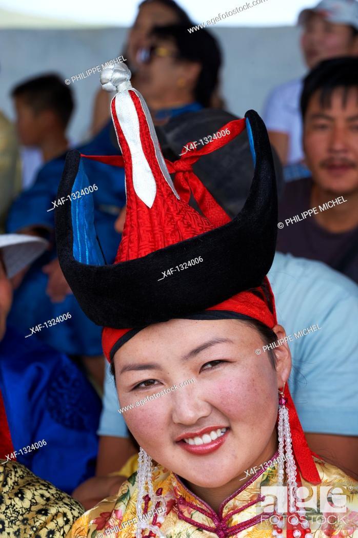 Stock Photo: Mongolia, Bulgan province, Naadam festival.