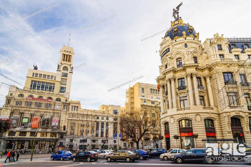 Imagen: Metropolis building, Gran Via, Madrid, Spain.
