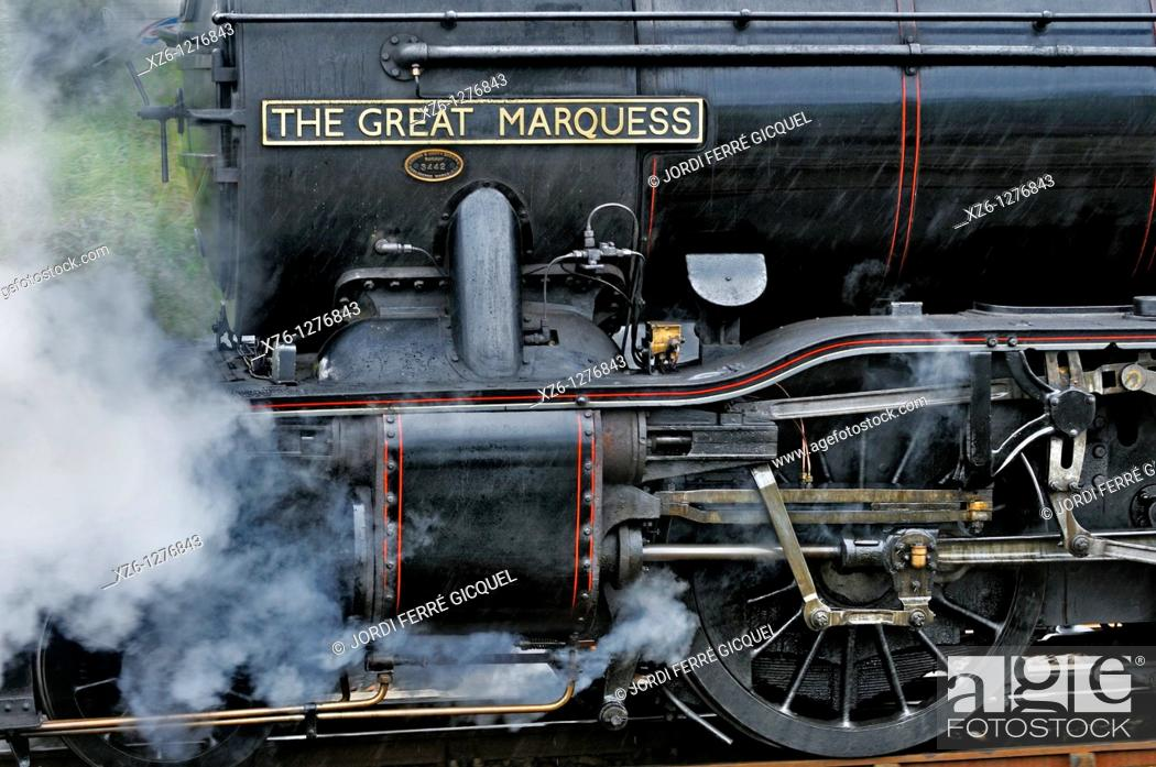 Stock Photo: The Harry Potter Steam Train, Mallaig, Highlands, Scotland, United Kingdom, Europe.