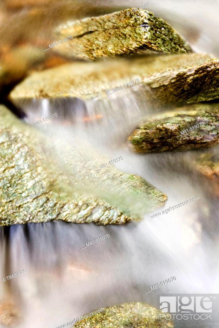 Stock Photo: Rocks and stream on Mount Sicker. Vancouver Island, British Columbia, 20 January 2006. Canada.
