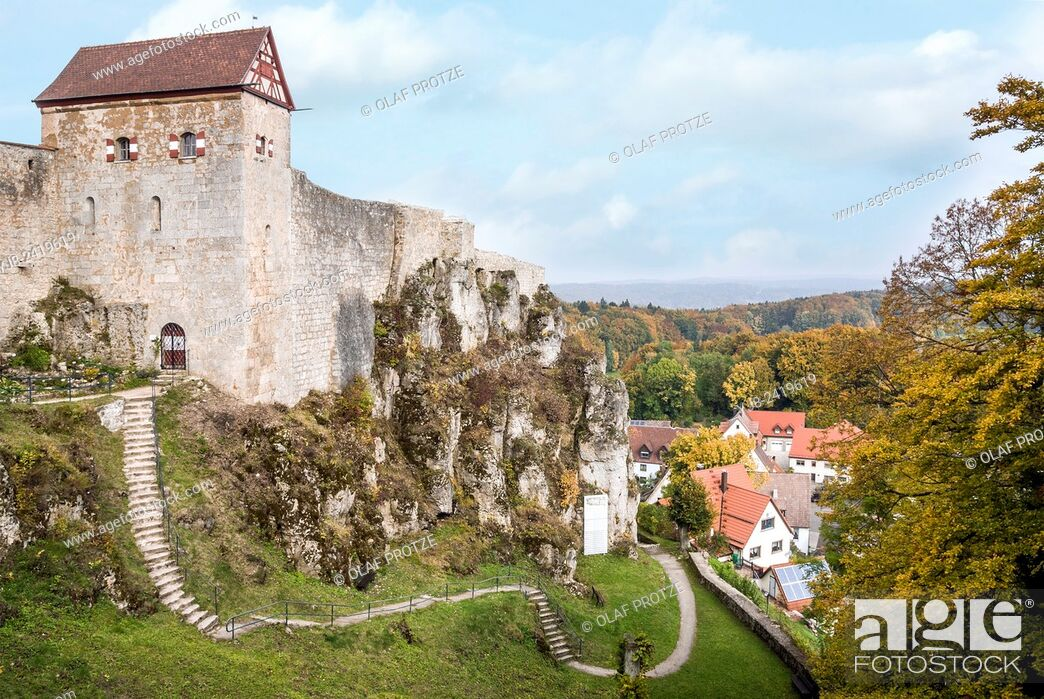 Stock Photo: Castle Hohenstein the German state of Bavaria, Germany.