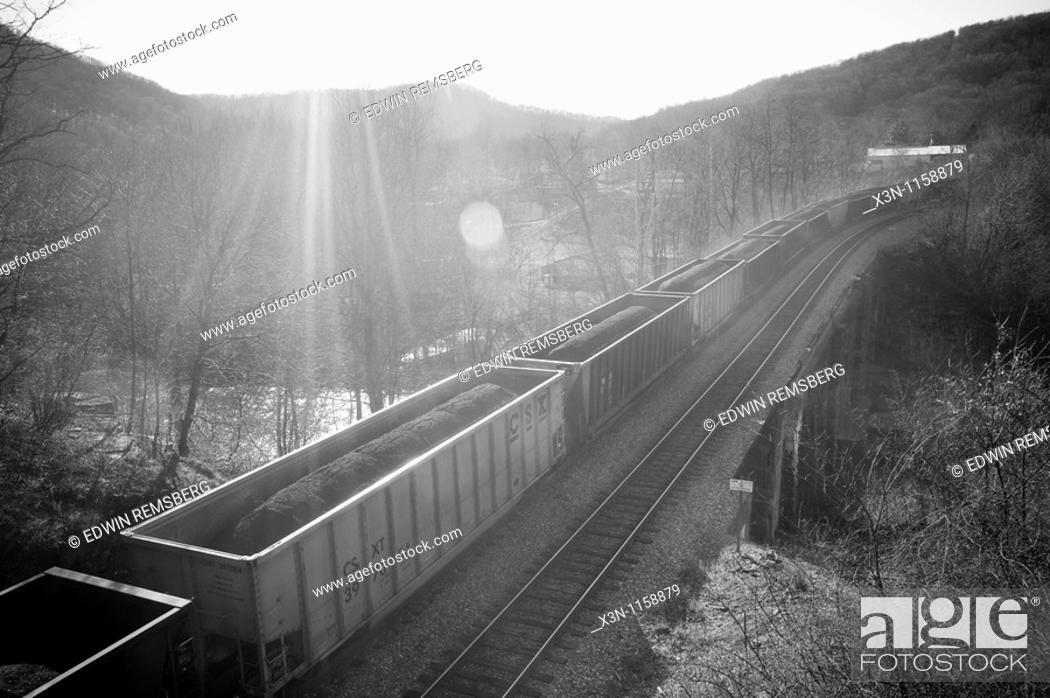 Stock Photo: Coal train, Western Maryland.
