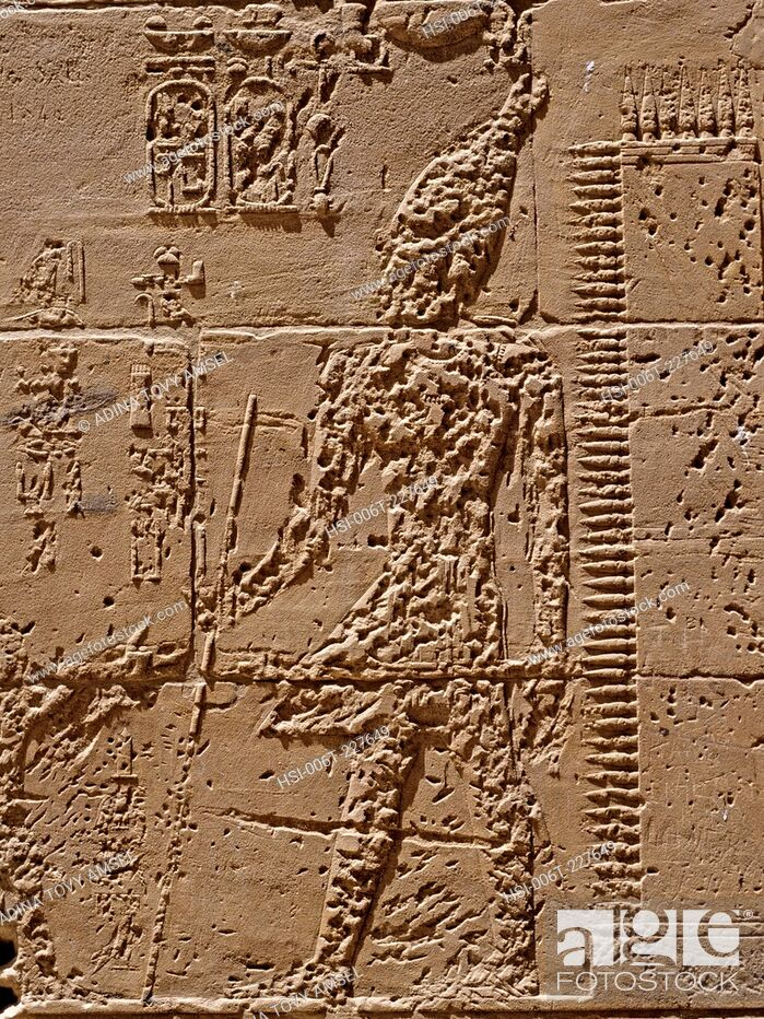 Stock Photo: Egypt. Remains of the Temple of Amenhotep III. West Bank of the Nile. Luxor area.