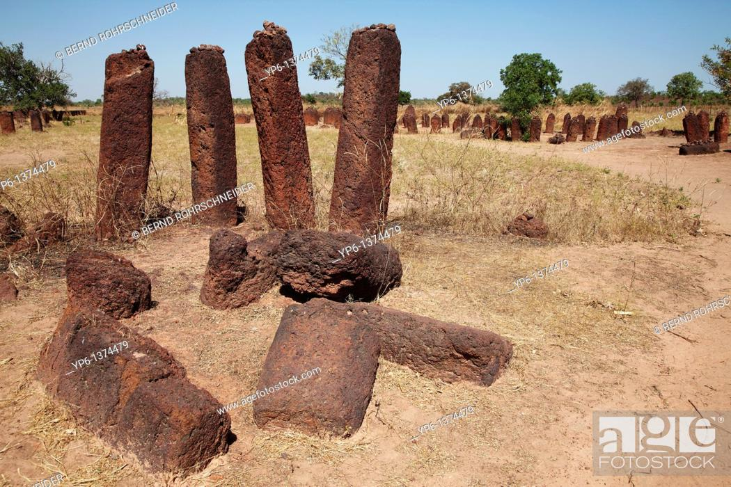 Stock Photo: Wassu stone circles, world cultural heritage, The Gambia, Africa.