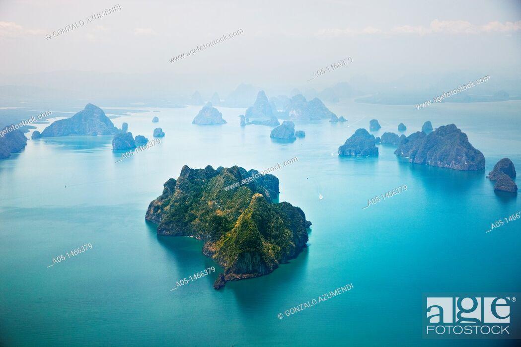 Stock Photo: Aerial view in Phuket Coast, Thailand.